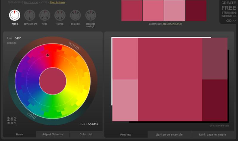 Créer des harmonies de couleurs avec Color Scheme Designer  Couleu10