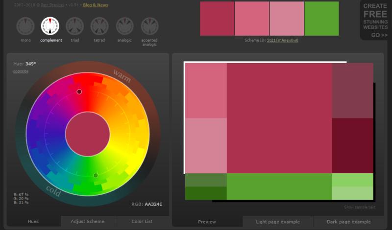 Créer des harmonies de couleurs avec Color Scheme Designer  Couleu11