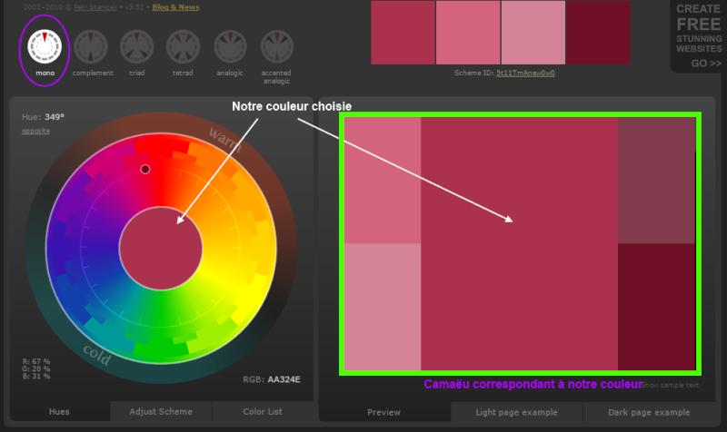 Créer des harmonies de couleurs avec Color Scheme Designer  Expli_10