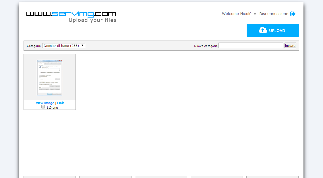 Servimg: come utilizzare l'host per le immagini di Forumattivo Serv110