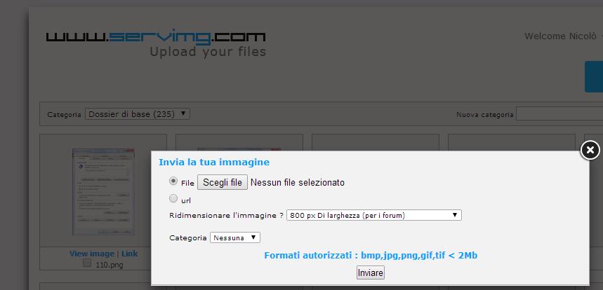 Servimg: come utilizzare l'host per le immagini di Forumattivo Serv210