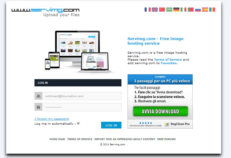 Servimg: come utilizzare l'host per le immagini di Forumattivo Serv510