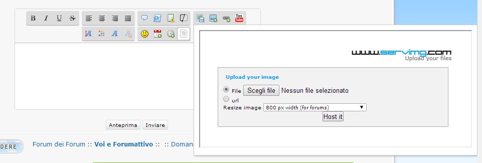 Servimg: come utilizzare l'host per le immagini di Forumattivo Serv610