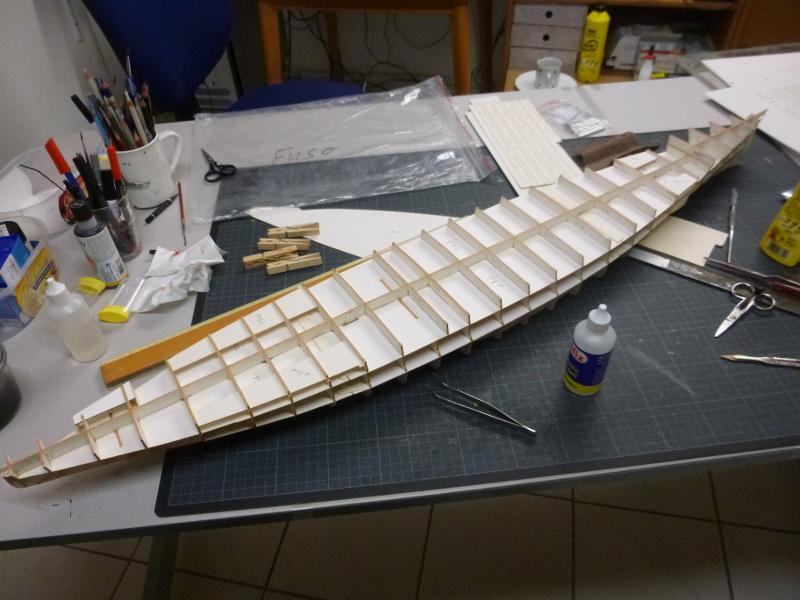 Jap. Schlachtschiff FUSO in 1:200 Halinski gebaut von Millpet   - Seite 2 P1030114