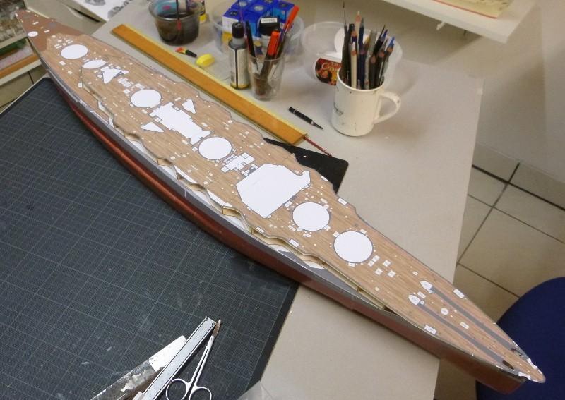 Jap. Schlachtschiff FUSO in 1:200 Halinski gebaut von Millpet   - Seite 4 P1030141