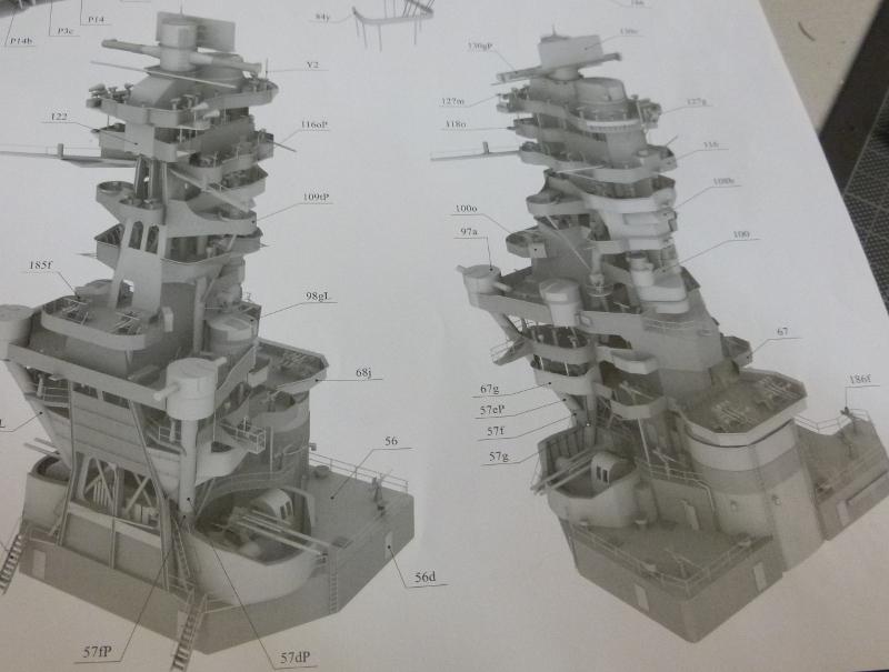 Jap. Schlachtschiff FUSO in 1:200 Halinski gebaut von Millpet   - Seite 7 P1030187