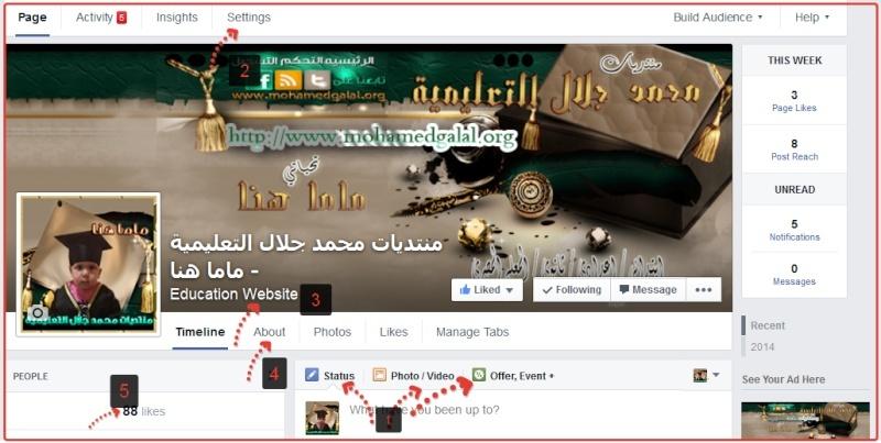 كيفية عمل صفحه على الفيس بوك لتسويق المواقع  2014-010