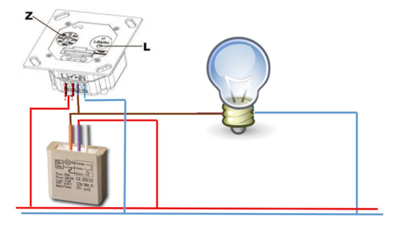 Module dio extra plat [TA3017/54758] avec telerupteur Montag10