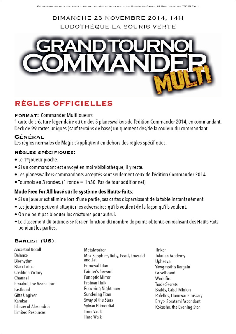 Grand tournois EDH Multijoueurs - Dimanche 23 novembre 111