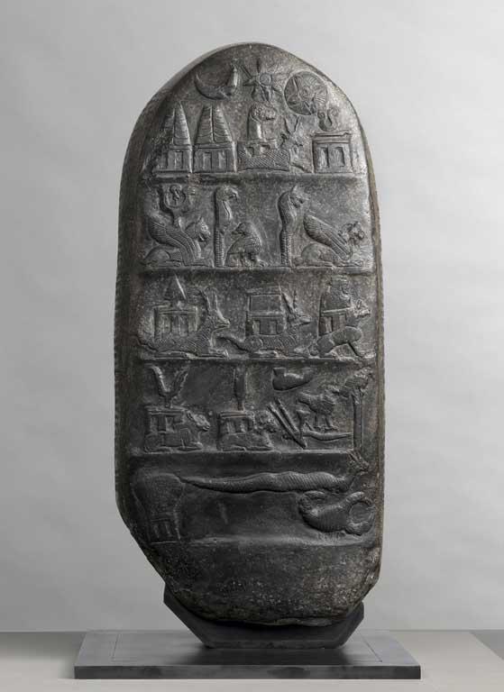 [C. sumérienne] Groupes de Divinités par niveau (stèles Kudurru) Stale-10
