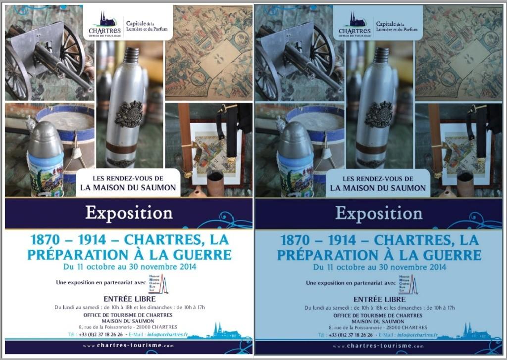 Exposition / 1870 - 1914 CHARTRES , la préparation à la guerre  Flyer111