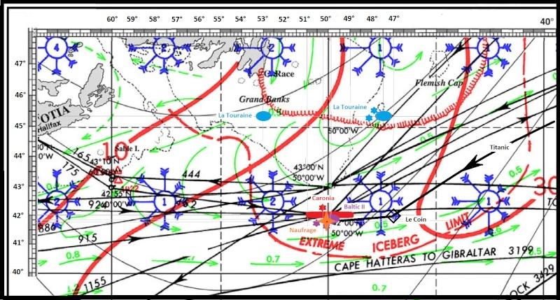 Les avis de glaces transmis à la passerelle Titani11