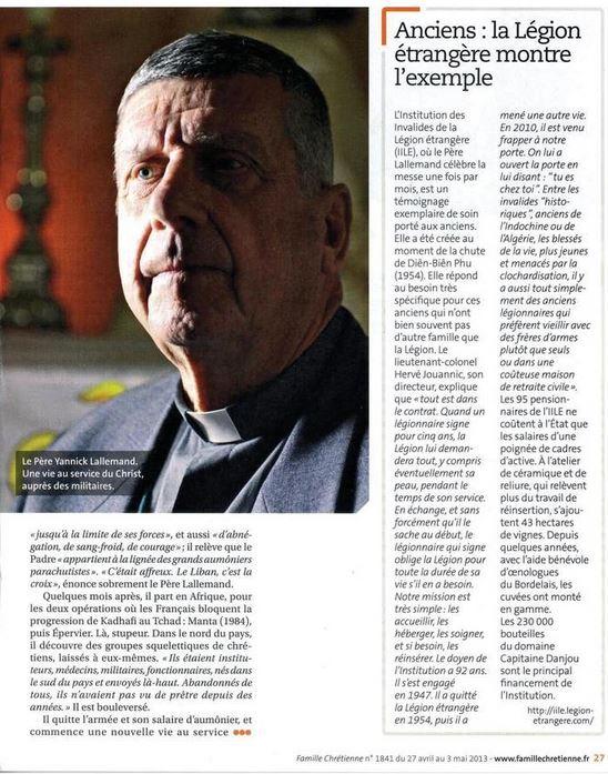 Pâques 2012 : Padre Yannick Lallemand, une promotion méritée dans l'Ordre de la Légion d'honneur Lallem11