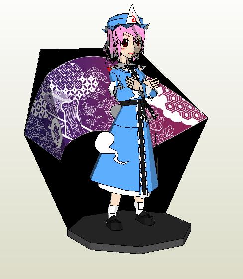 """Touhou Papercraft - Chơi figure kiểu """"con nhà nghèo"""" Yuyupp10"""