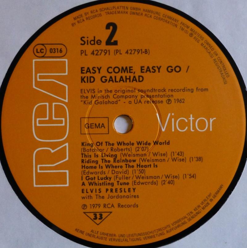 ORIGINAL SOUNDTRACKS: EASY COME EASY GO / KID GALAHAD 1d11