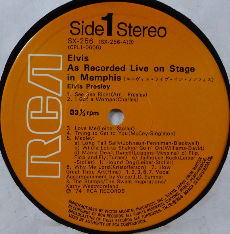 ELVIS RECORDED LIVE ON STAGE IN MEMPHIS 1q10