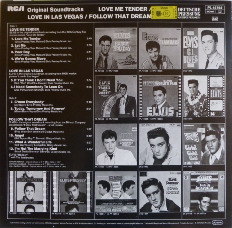 ORIGINAL SOUNDTRACKS: LOVE ME TENDER / LOVE IN LAS VEGAS / FOLLOW THAT DREAM 3a10