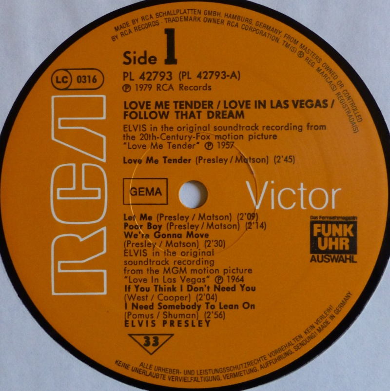 ORIGINAL SOUNDTRACKS: LOVE ME TENDER / LOVE IN LAS VEGAS / FOLLOW THAT DREAM 3c10