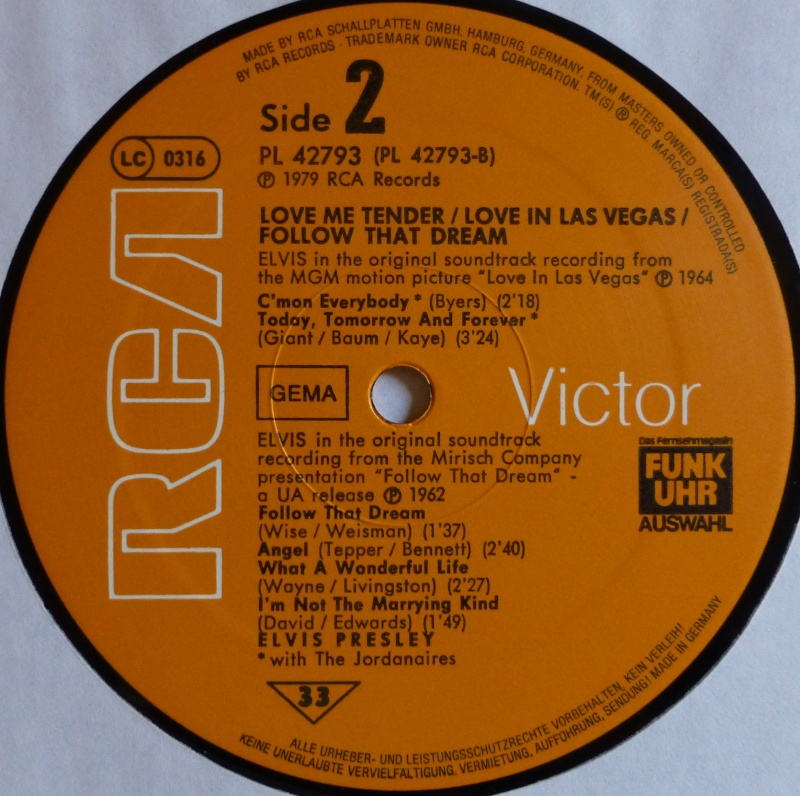 ORIGINAL SOUNDTRACKS: LOVE ME TENDER / LOVE IN LAS VEGAS / FOLLOW THAT DREAM 3d10