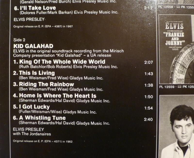 ORIGINAL SOUNDTRACKS: EASY COME EASY GO / KID GALAHAD P1030811