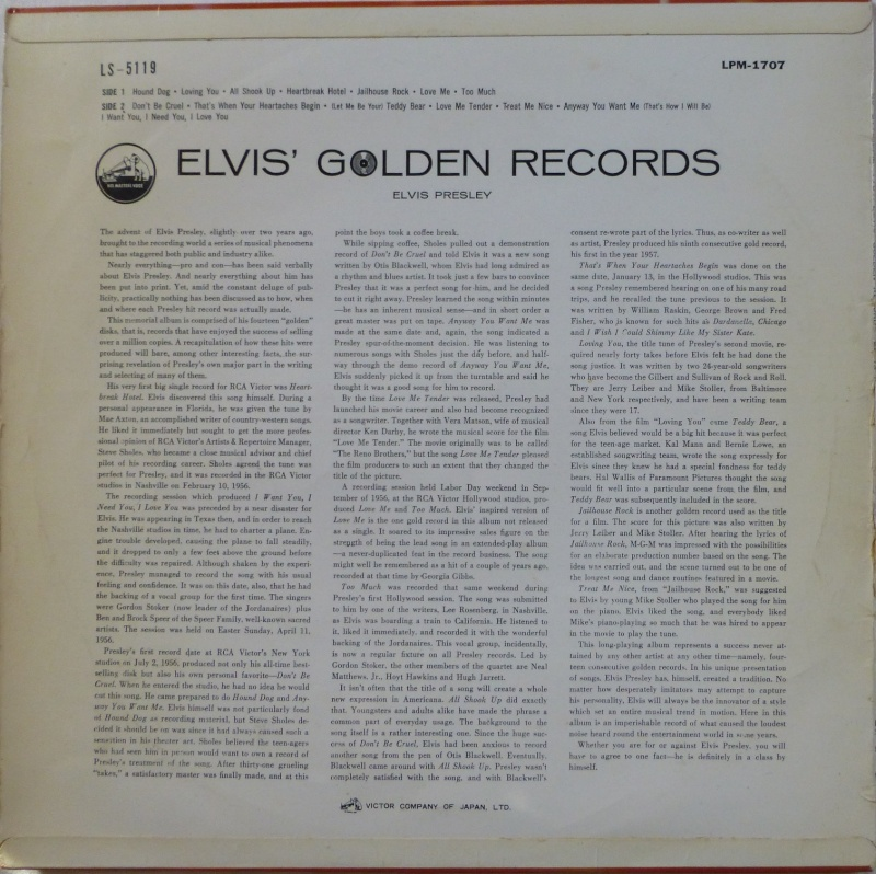 ELVIS`GOLDEN RECORDS P1030912