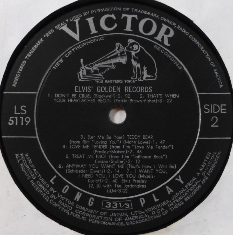 ELVIS`GOLDEN RECORDS P1030915