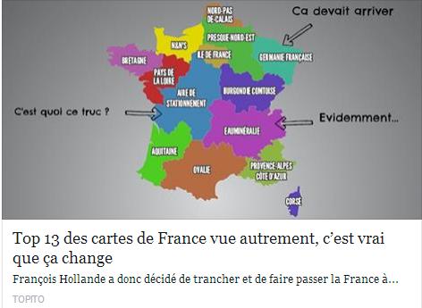 Top 13 des cartes de France vue autrement, c'est vrai que ça change Temp104