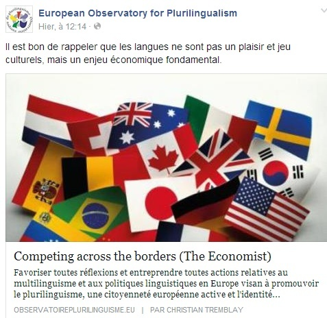 European Observatory for Plurilingualism Temp107