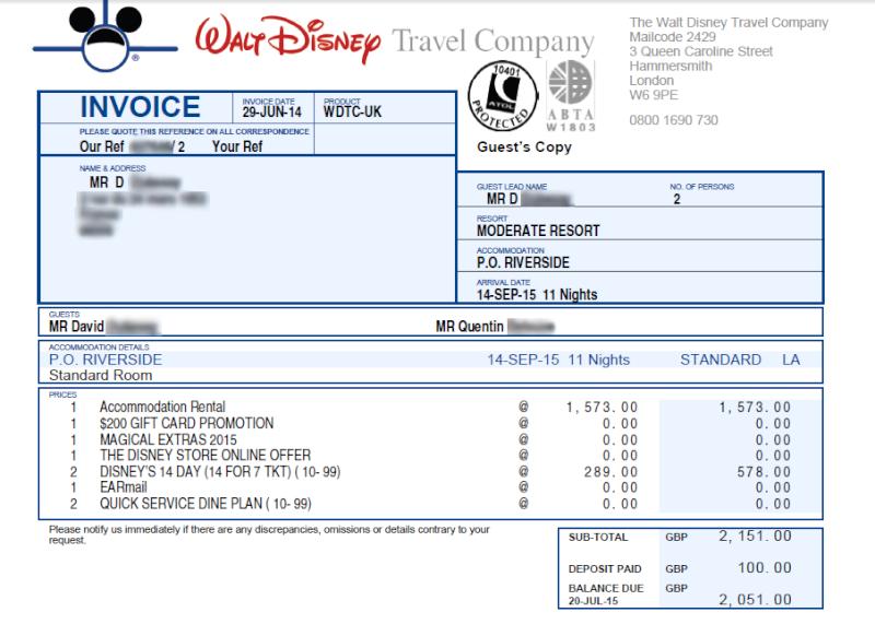 [PRE-TR] Orlando septembre 2015 WDW + USO Invoic11