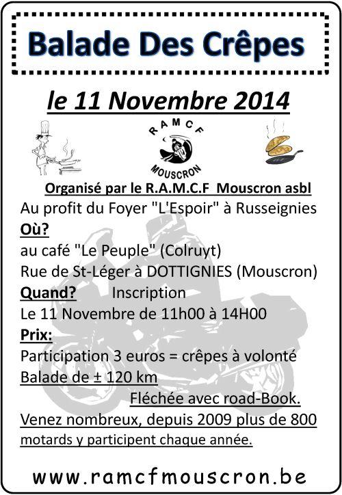 BALADE des Crapes le 11/11/2014 à Dottignies Balade11