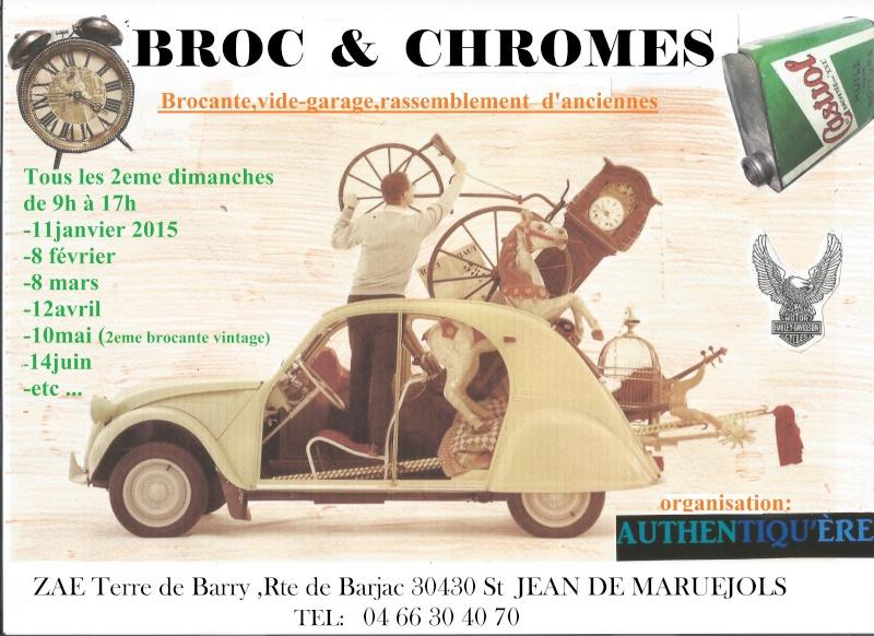 Broc et Chromes tous les 2eme dimanches du mois dans le Gard  Affich13