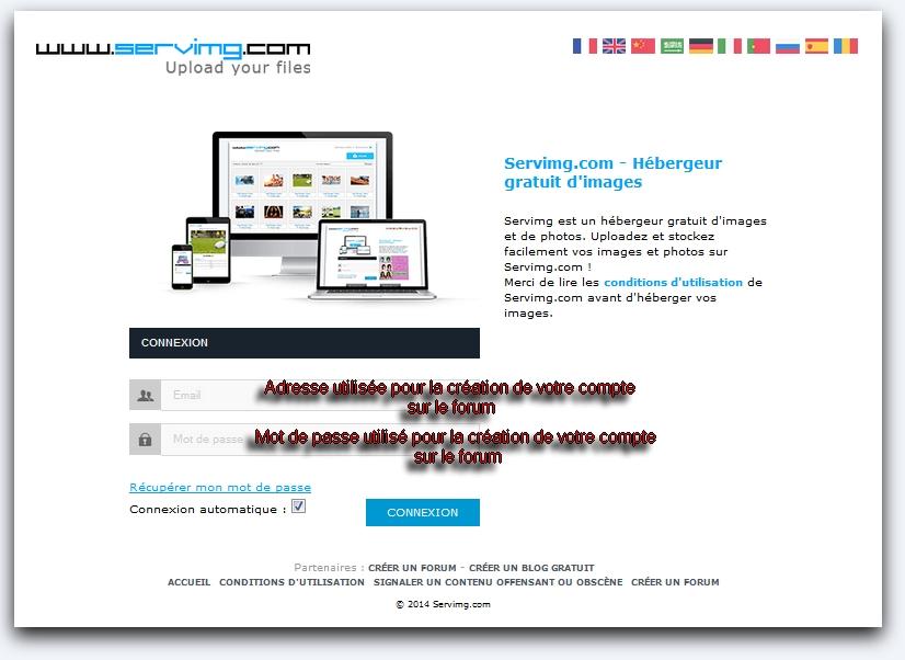Comment utiliser votre compte servimg.com  Servim10