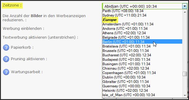 [Update] Neue Zeitzonen Update33