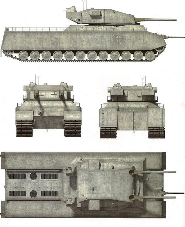 char type landcreuzer P 1000 Ratte jamais construit - Page 4 Ratte_13