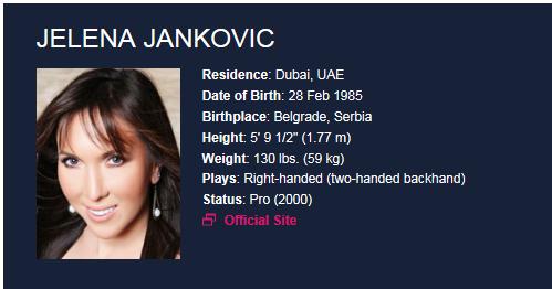 JELENA JANKOVIC (Serbe) - Page 2 Jelena10