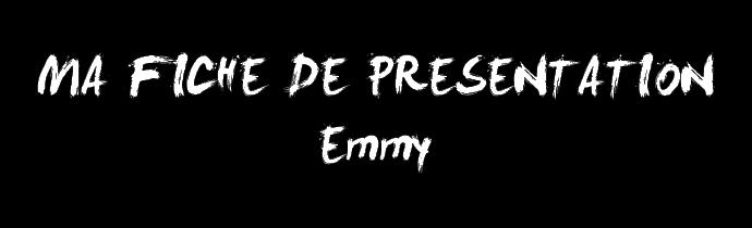 Présentation de Emmy, créatrice du forum Base_f12