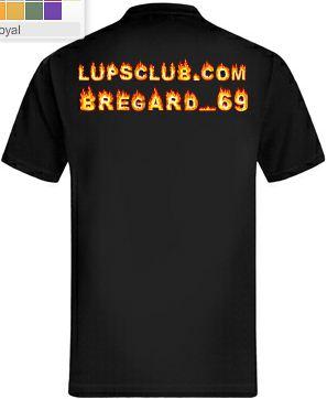 Idée de création d'un T-shirt Lup's Club. T0210