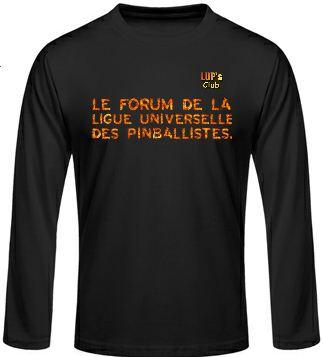 Idée de création d'un T-shirt Lup's Club. Tf0110