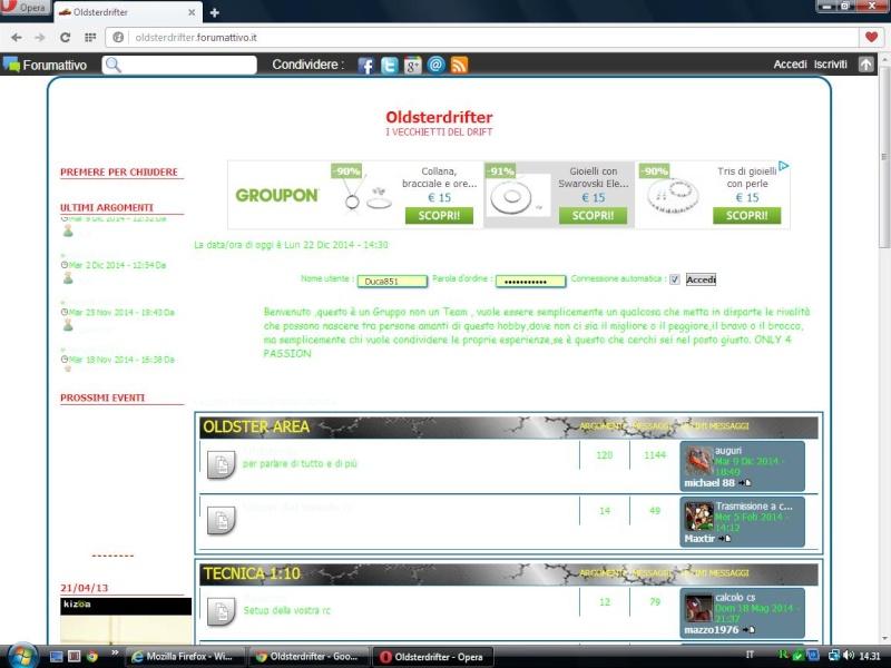 visualizzazione forum problematica Opera10