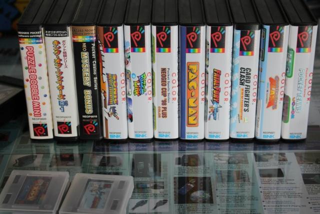 [VDS] Lot NeoGeo Pocket Color + 17 Jeux + Linker Flashmasta + 2 cartouches vierges pour flasher ces jeux (2/cartouches) 00711