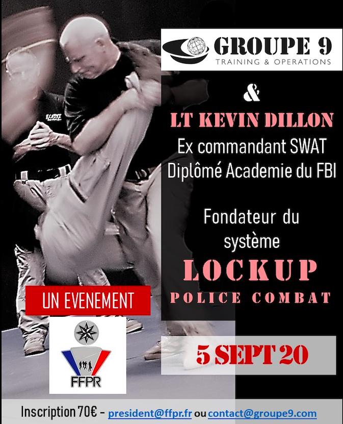 stage Lockup avec Kevin Dillon ex commandant SWAT avec Groupe 9 academy et la FFPR  Captur13