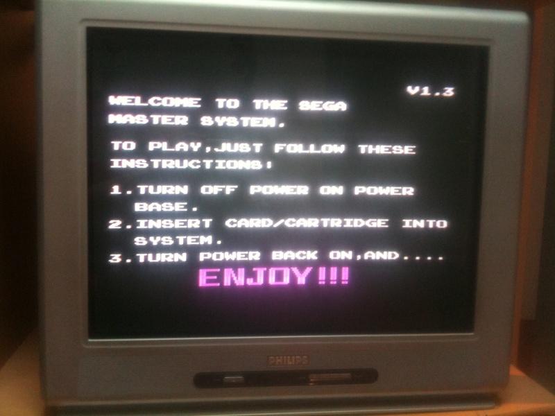 master system 1 SANS jeux intégrés ... Jeuxsm12