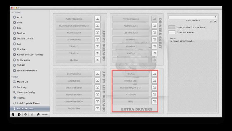 Problème de sélection d'OS au BOOT Clover Captur13