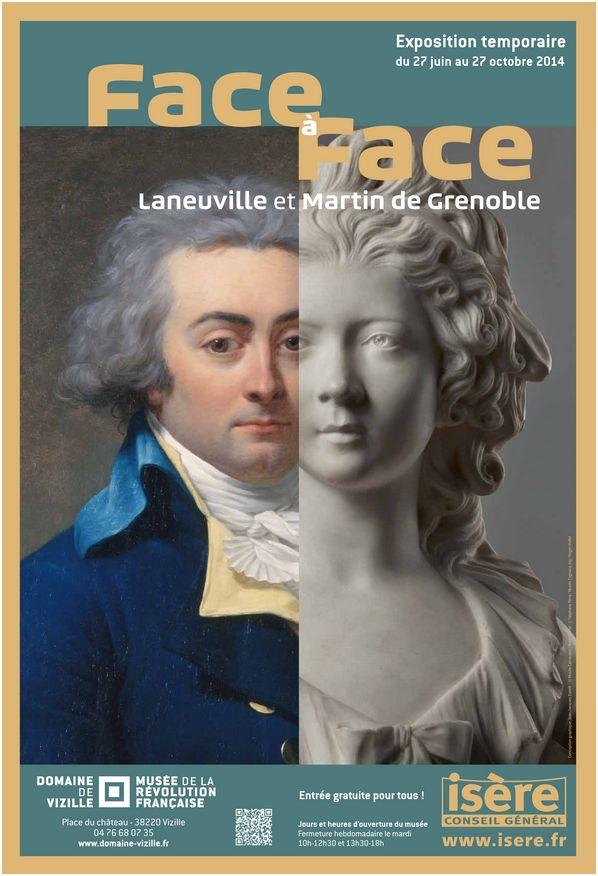 Exposition Laneuville Martin de Grenoble, chateau de Vizille Affich10