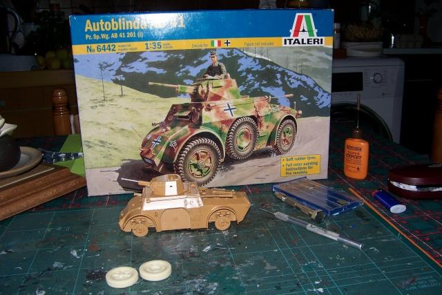 Autoblinda AB 41 Italeri 1/35 100_8613