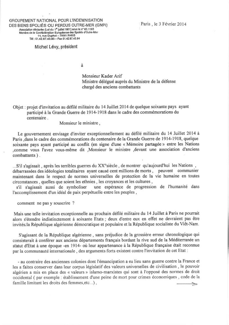 DEFILE du FLN aux Champs-ELYSEES en juillet 2014: UNE INSULTE AUX MILLIERS DE HARKIS ET LEURS FAMILLES, PIEDS NOIRS,  MILITAIRES FRANCAIS MORTS EN ALGERIE.   Dbp_de11