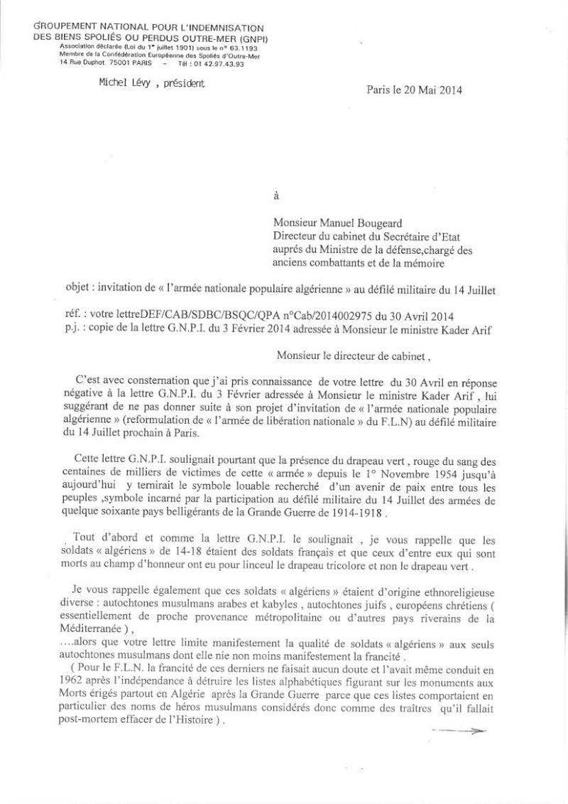 DEFILE du FLN aux Champs-ELYSEES en juillet 2014: UNE INSULTE AUX MILLIERS DE HARKIS ET LEURS FAMILLES, PIEDS NOIRS,  MILITAIRES FRANCAIS MORTS EN ALGERIE.   Gnpi_f10