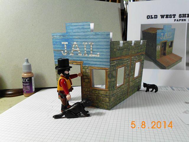 Sheriffbüro + Gefängnis von Papermau - Fertig und Galerie 171