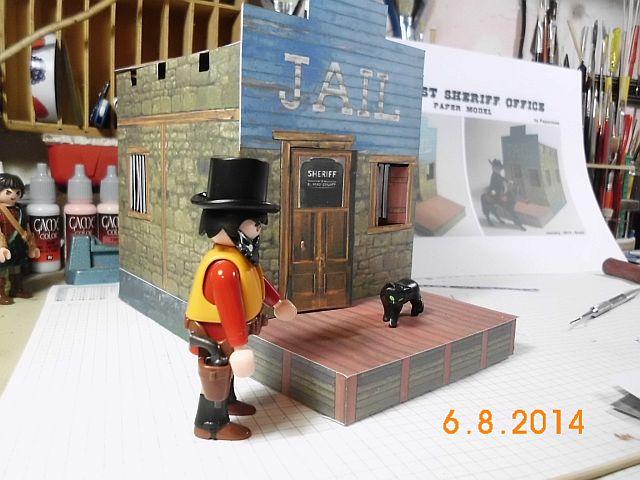 Sheriffbüro + Gefängnis von Papermau - Fertig und Galerie 630