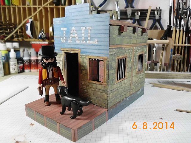 Sheriffbüro + Gefängnis von Papermau - Fertig und Galerie 818